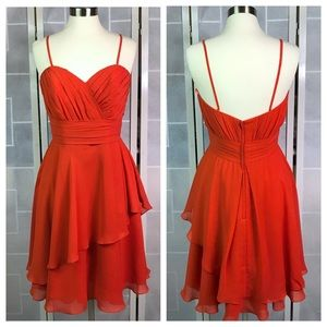 💥 Allure cocktail dress in rust 12